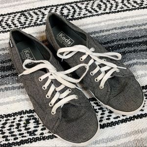 Keds Grey Lace Up Woman's Sneakers